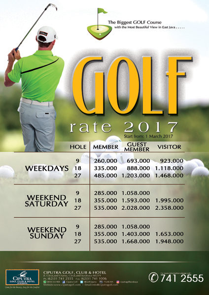 Poster Golf Rate'17