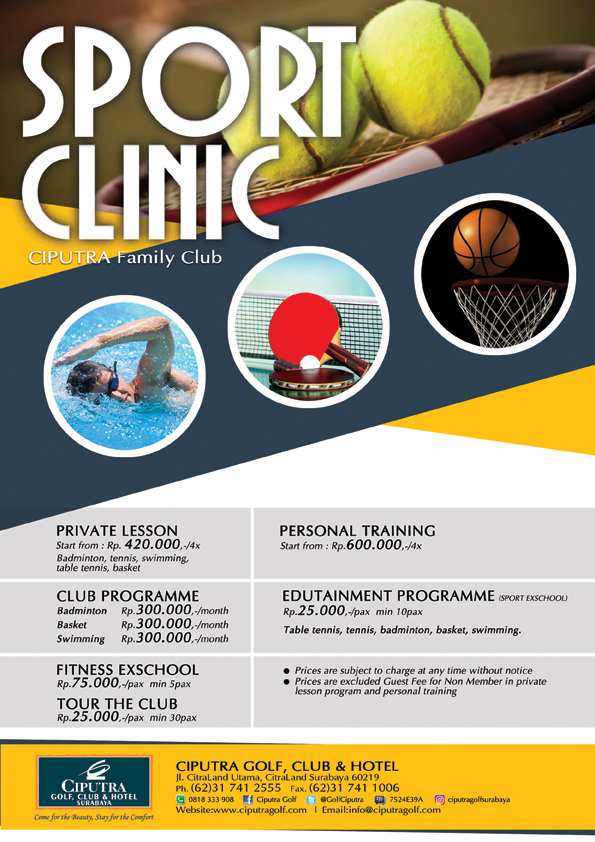 Poster Sport Clinic'17